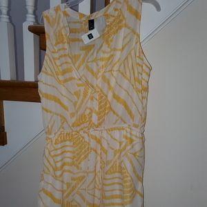 Split neck tank shirt dress